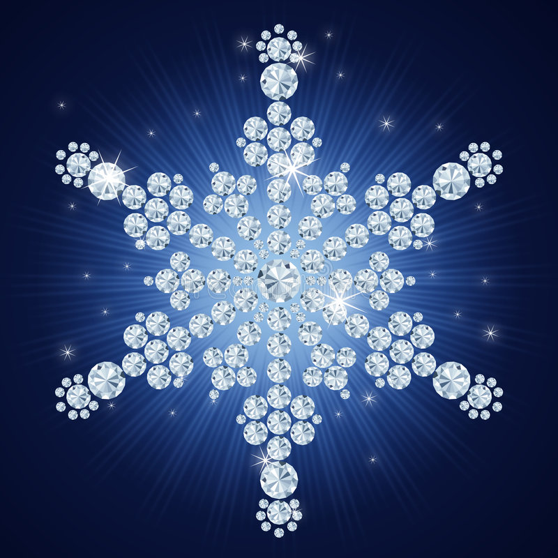 tła bożych narodzeń diamentu płatek śniegu ilustracji
