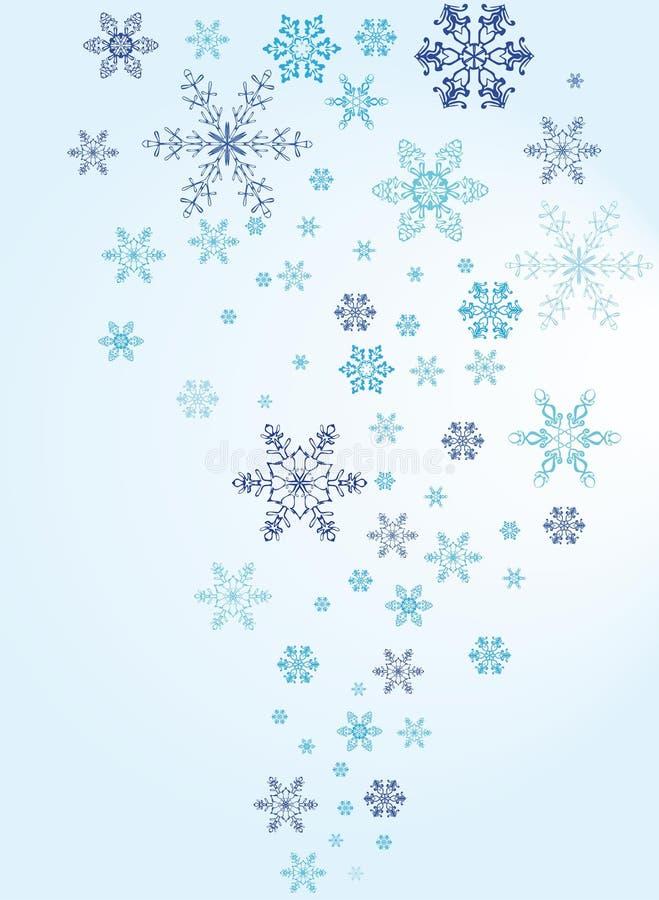 tła bożych narodzeń płatek śniegu ilustracja wektor