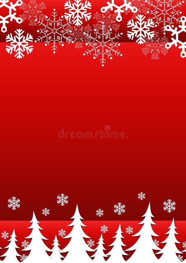 tła bożych narodzeń płatków śniegów drzewa royalty ilustracja
