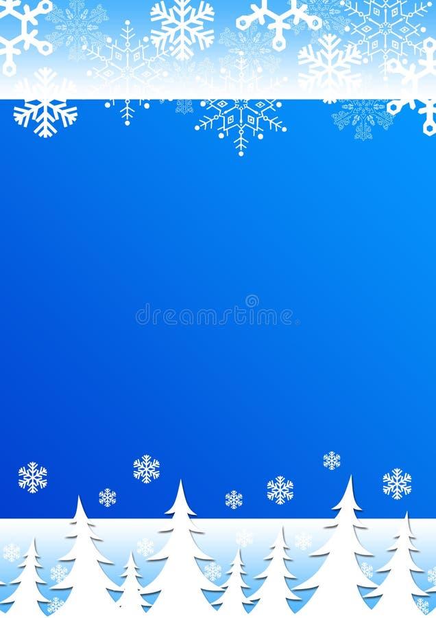 tła bożych narodzeń płatków śniegów drzewa ilustracja wektor
