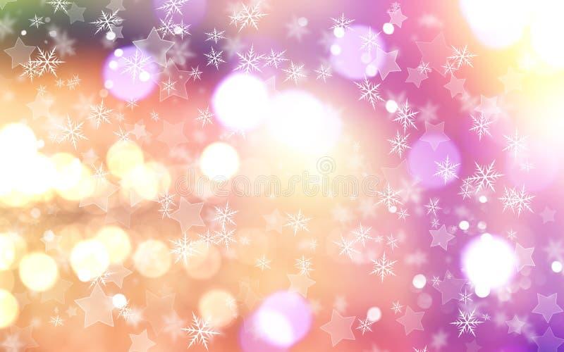 tła bożych narodzeń płatków śniegów gwiazdy ilustracja wektor
