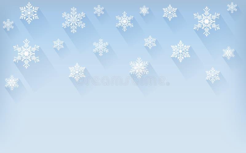 tła bożych narodzeń płatków śniegów zima Kartka z pozdrowieniami lub zaproszenie boże narodzenie nowy rok szczęśliwy wesoło ilustracja wektor