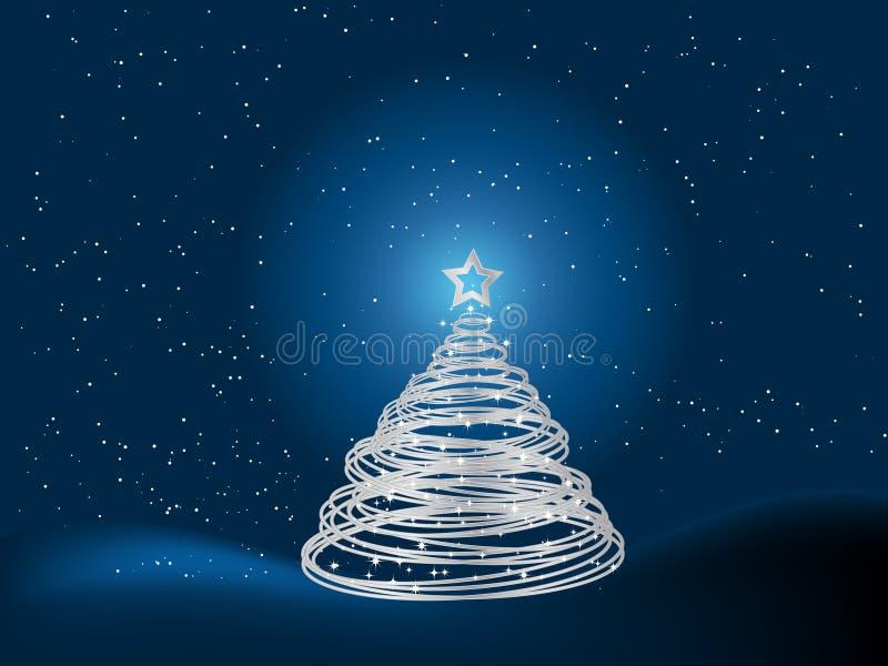 tła bożych narodzeń srebny drzewo ilustracja wektor