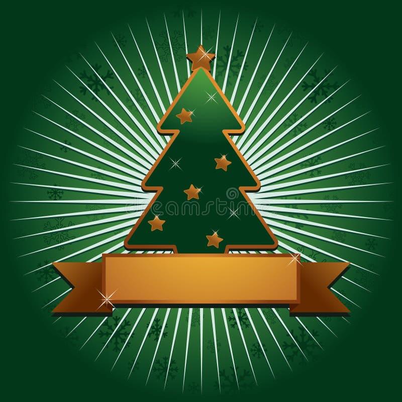 tła bożych narodzeń złota zieleń ilustracji