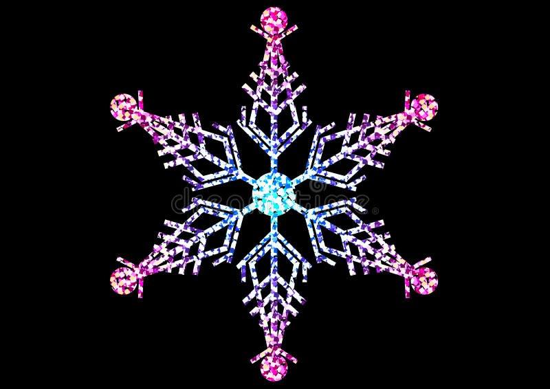 tła bożych narodzeń zamknięty odosobniony płatek śniegu w górę biel zdjęcia royalty free
