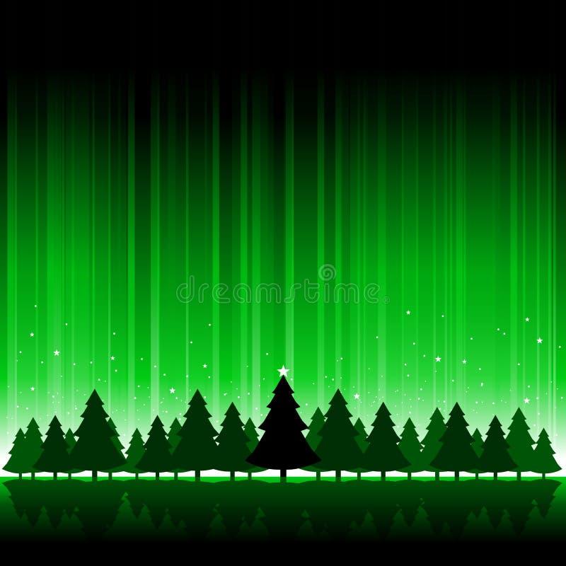 tła bożych narodzeń zielony drzewo ilustracji