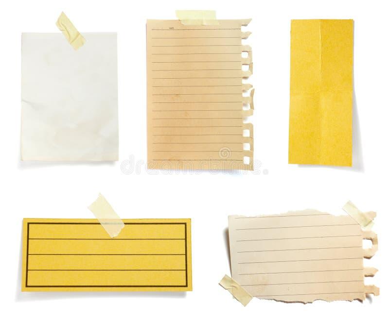 tła brąz notatki stary papier zdjęcie stock
