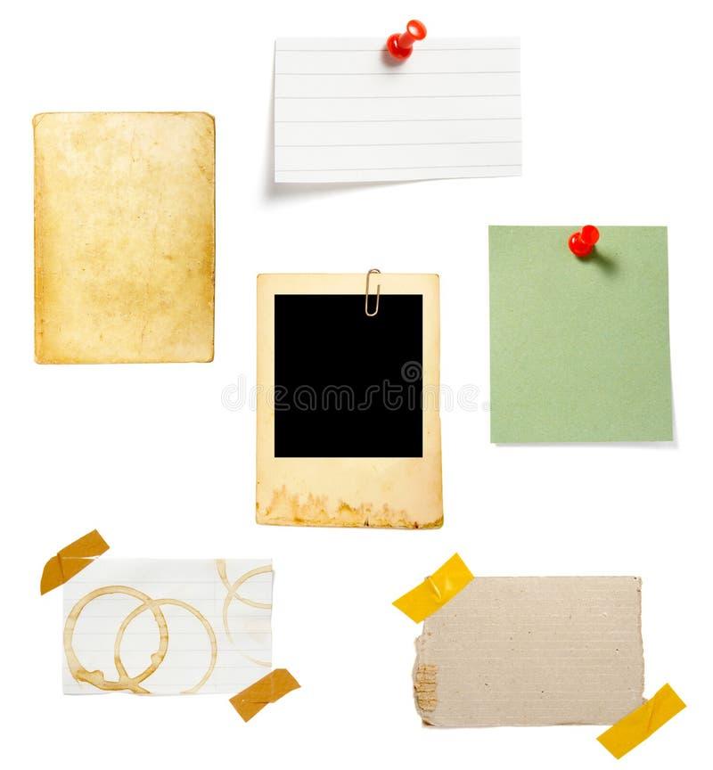 tła brąz notatki stary papier zdjęcie royalty free