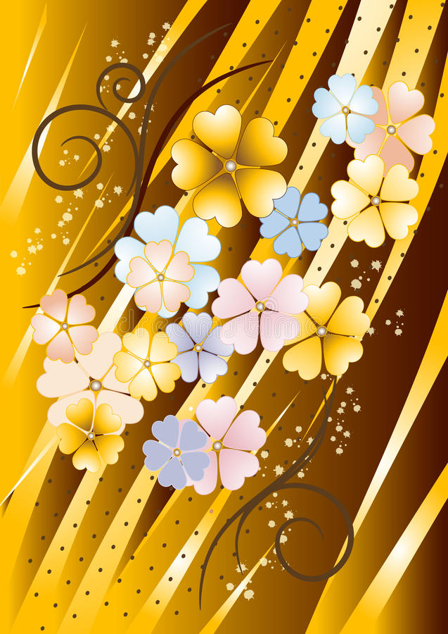 tła brudno- kwiatów ściana ilustracji