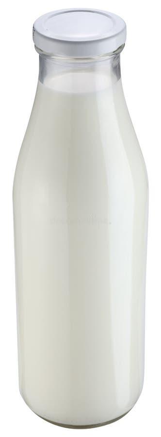 tła butelka odizolowywający dojny biel fotografia royalty free