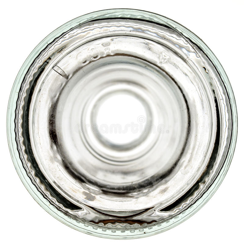 tła butelki dna szklany biel obrazy stock