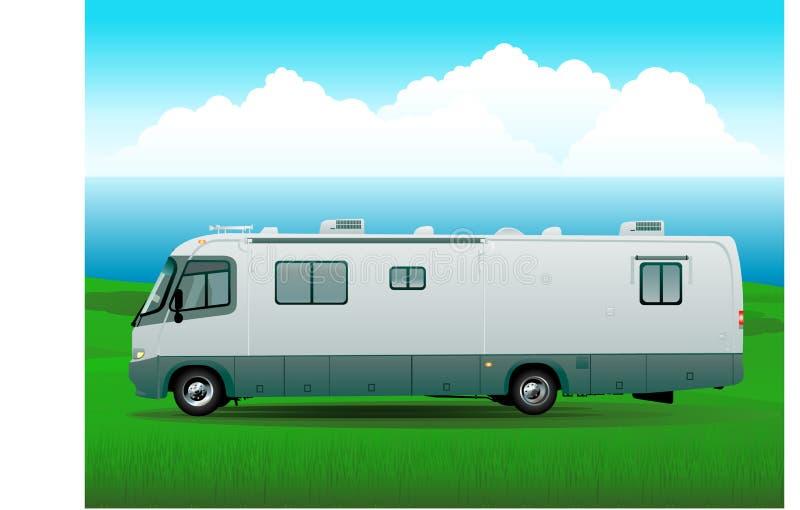 tła campingu podróż royalty ilustracja