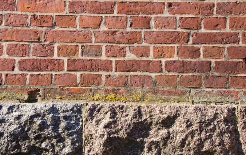 tła ceglanych podstaw domowa czerwona kamienna ściana obraz royalty free