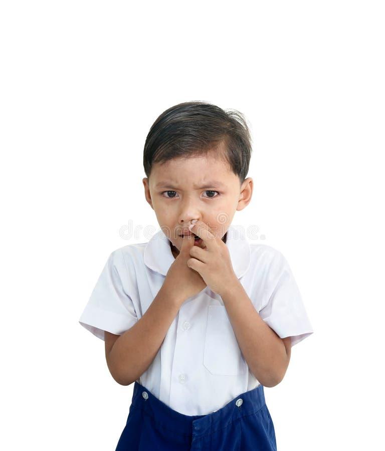 tła chłopiec płaczu odosobniony biel zdjęcia stock