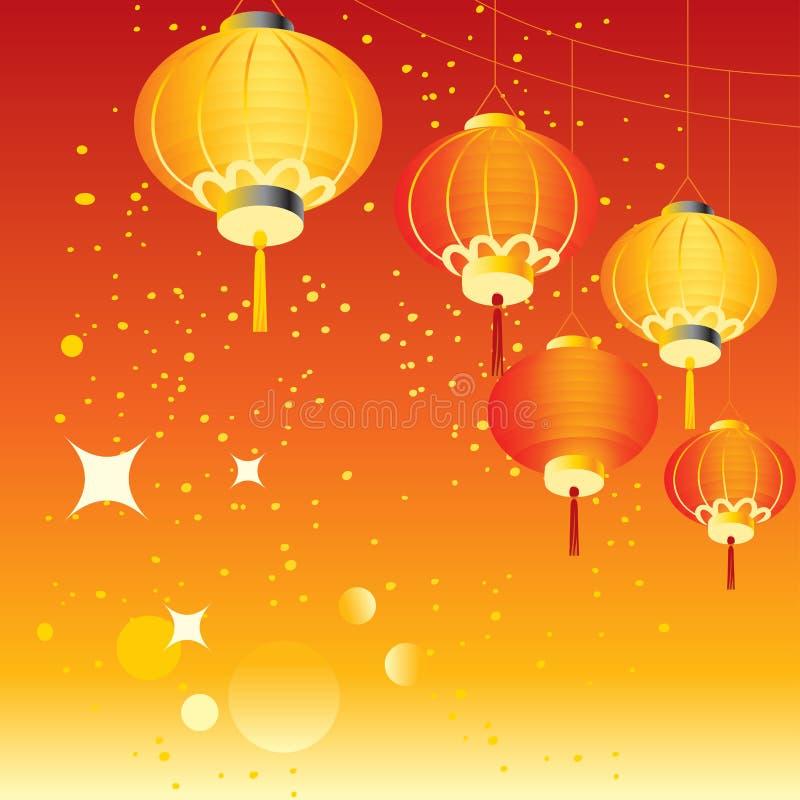 tła chińczyka wakacje ilustracji