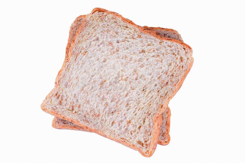 tła chlebowego brąz odosobniony biel zdjęcie royalty free