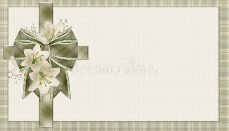 tła chrześcijanina krzyża zieleni szkocka krata royalty ilustracja