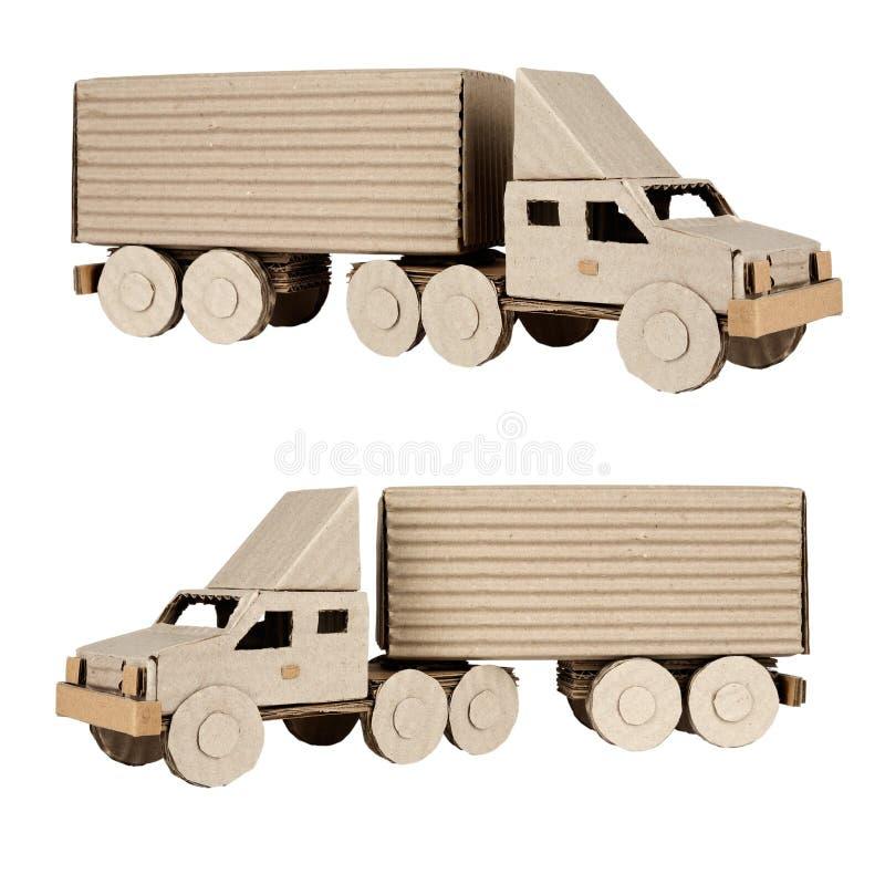 tła ciągnikowej przyczepy ciężarówki biel obraz royalty free