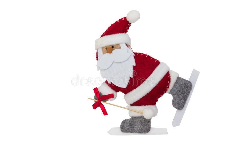 tła Claus wizerunku Santa wektorowy biel obraz stock