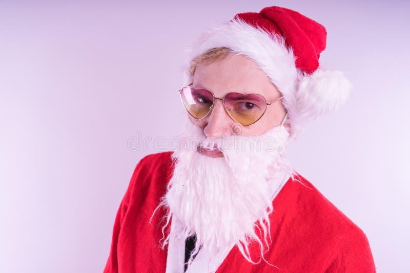 tła Claus wizerunku Santa wektorowy biel Szczęśliwy nowy rok i Wesoło boże narodzenia! zdjęcia royalty free