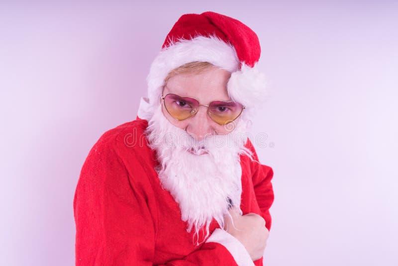 tła Claus wizerunku Santa wektorowy biel Szczęśliwy nowy rok i Wesoło boże narodzenia! obraz royalty free
