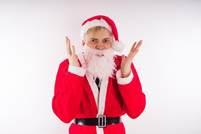 tła Claus wizerunku Santa wektorowy biel Szczęśliwy nowy rok i Wesoło boże narodzenia! fotografia royalty free