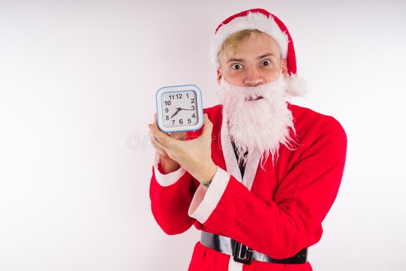 tła Claus wizerunku Santa wektorowy biel Szczęśliwy nowy rok i Wesoło boże narodzenia! fotografia stock