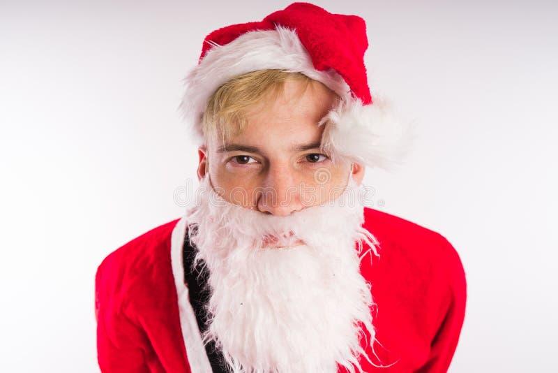 tła Claus wizerunku Santa wektorowy biel Szczęśliwy nowy rok i Wesoło boże narodzenia! zdjęcie royalty free