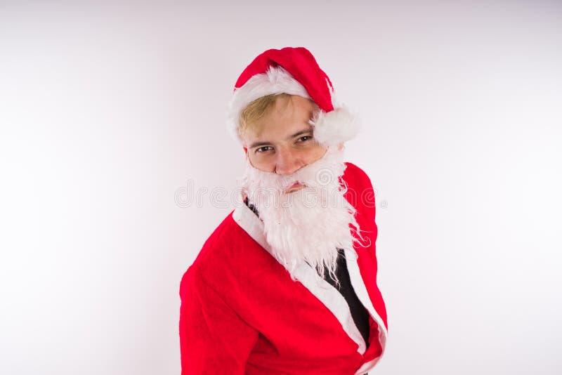 tła Claus wizerunku Santa wektorowy biel Szczęśliwy nowy rok i Wesoło boże narodzenia! obrazy royalty free