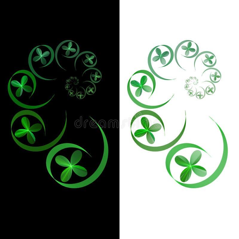 tła czarny fractal zieleni spirali biel fotografia royalty free