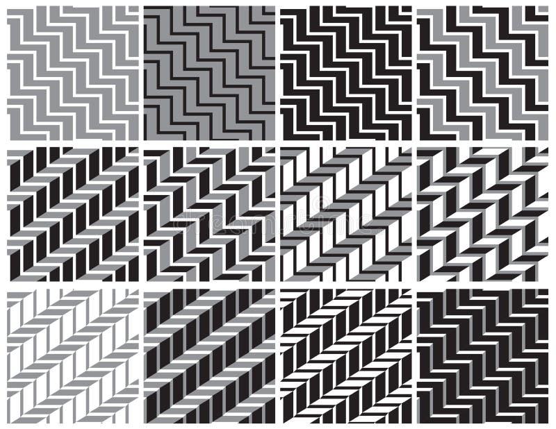 Tła czarny i biały geometryczny royalty ilustracja