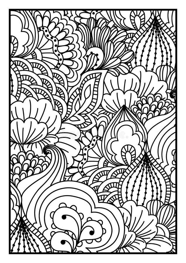 tła czarny karcianego projekta kwiatu fractal dobrego ogange plakatowy biel ilustracja wektor