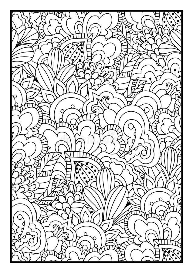 tła czarny karcianego projekta kwiatu fractal dobrego ogange plakatowy biel royalty ilustracja