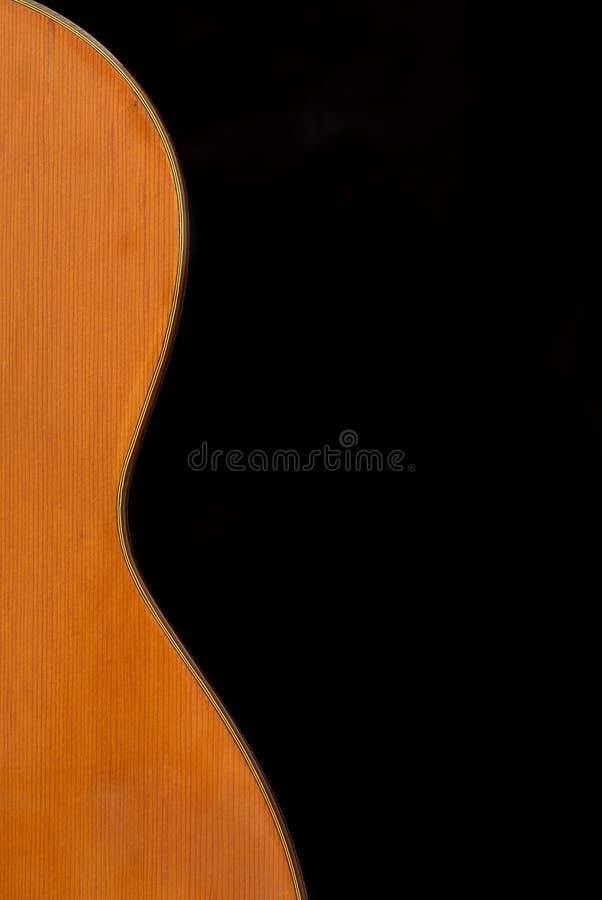 tła czarny klasyczny gitary spanish zdjęcie stock