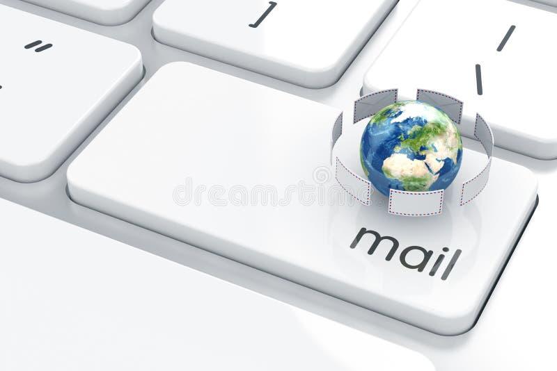 tła czarny pojęcia czarny emaila odbicia tekst trzy ilustracja wektor