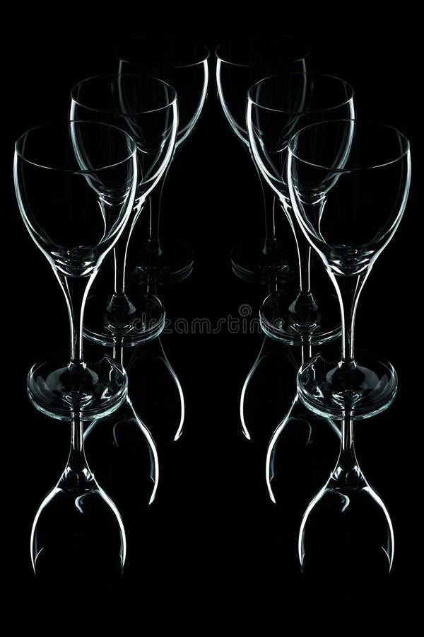 tła czarny szklany szkieł wino zdjęcia royalty free