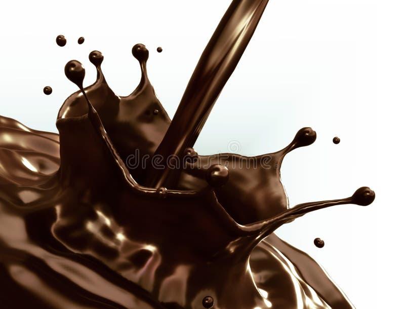 tła czekoladowy ilustracyjny pluśnięcia biel zdjęcia royalty free