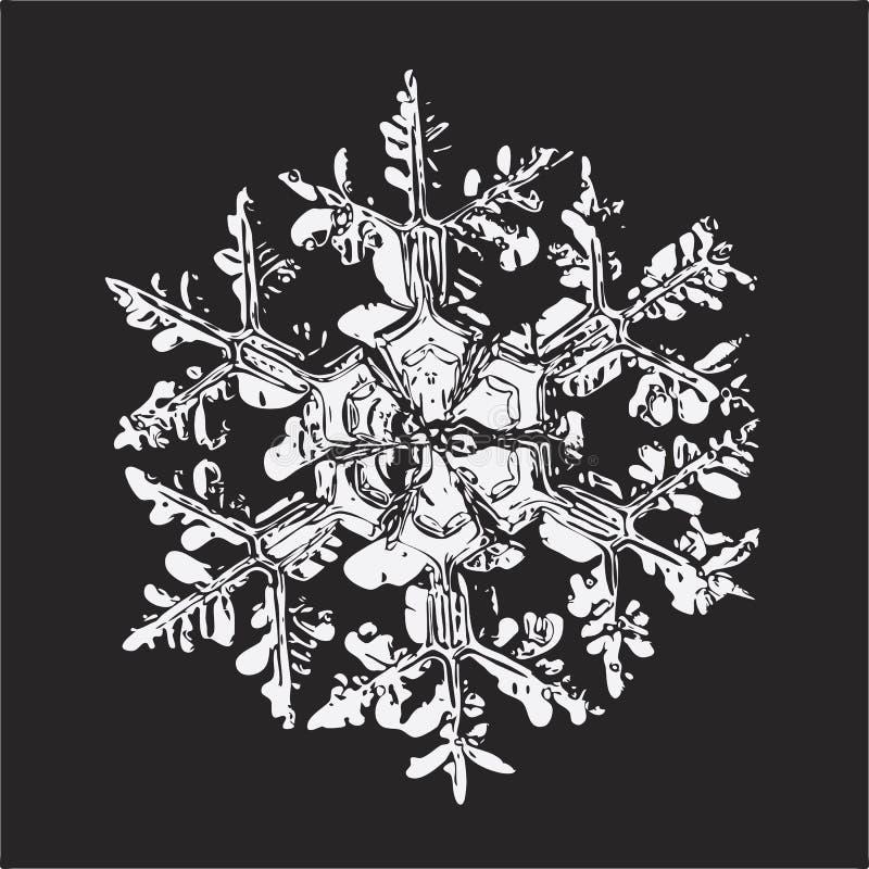 tła czerń dekoruje nowego płatka śniegu biel rok ilustracja wektor