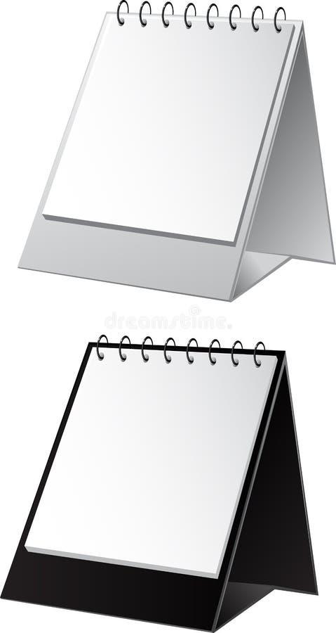 tła czerń kalendarza pusty biel ilustracji