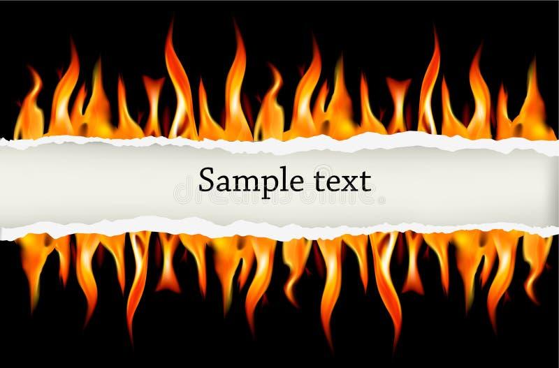 tła czerń ogienia płomienia wektor ilustracja wektor