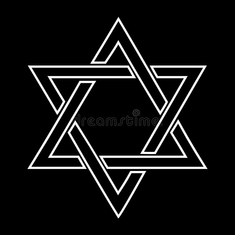 tła czerń projekta żydowski gwiazdowy biel ilustracja wektor