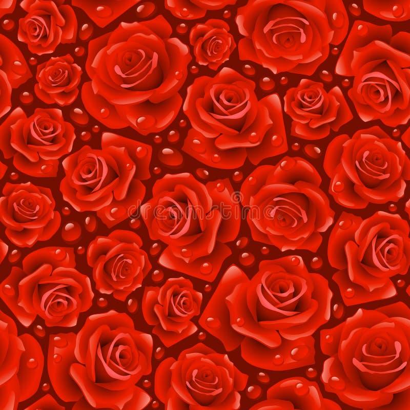 tła czerwieni róża bezszwowa royalty ilustracja