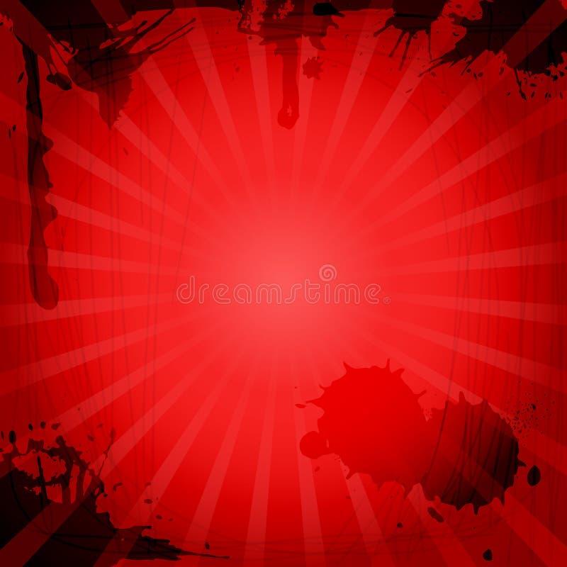 tła czerwieni rocznik ilustracji