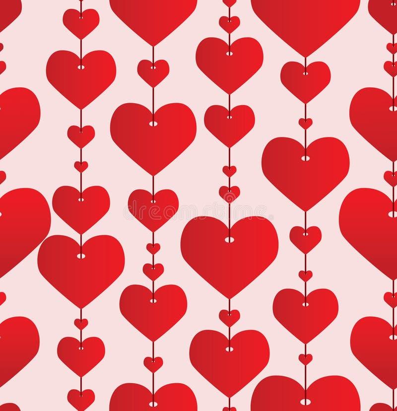 tła czerwieni valentine royalty ilustracja
