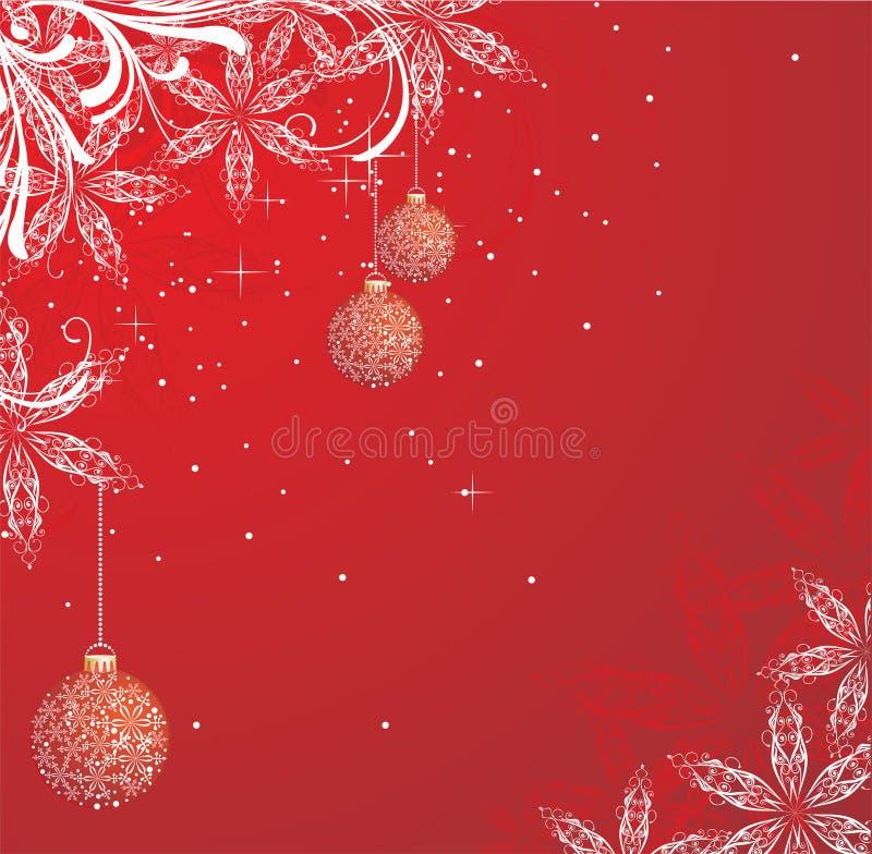 tła czerwieni zima ilustracja wektor