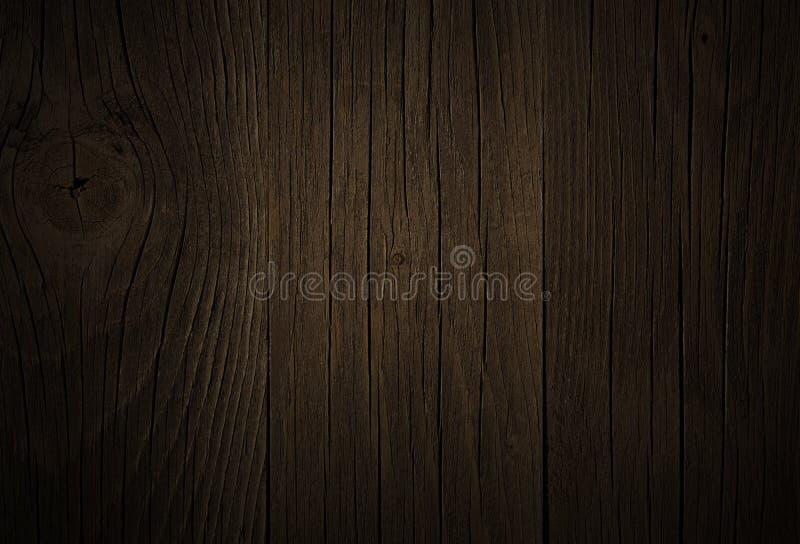 Tła dębowego drewna ciemny brąz, grunge tekstura zdjęcia royalty free