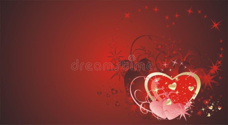 tła dekoracyjne serc gwiazdy royalty ilustracja
