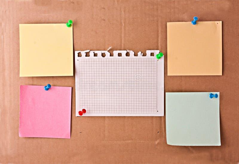 tła deski karta notatki fotografia stock