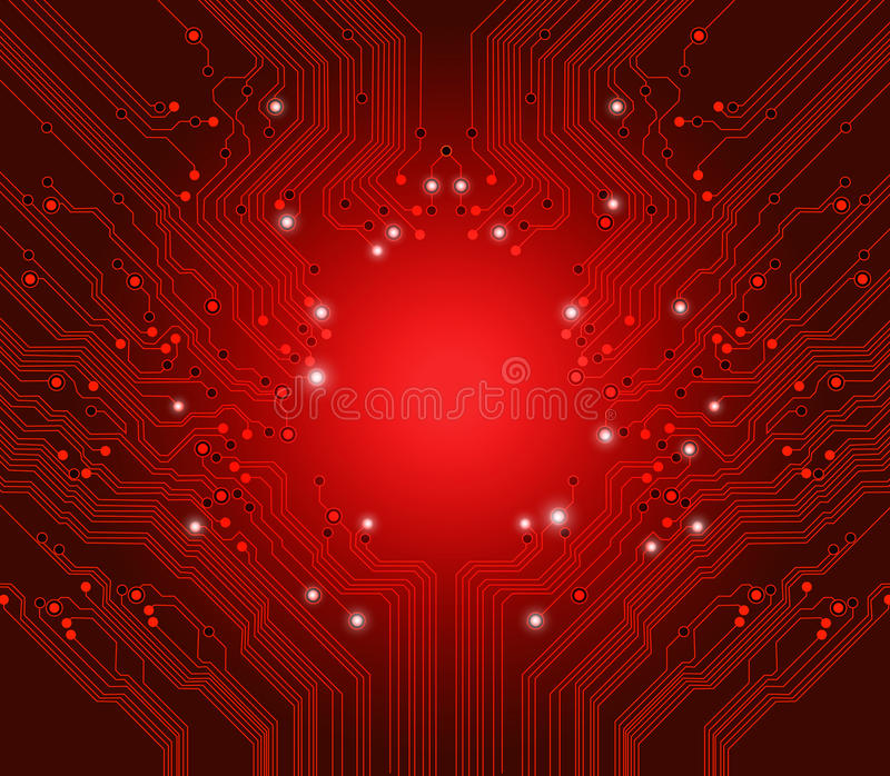 tła deski obwodu czerwieni wektor ilustracji