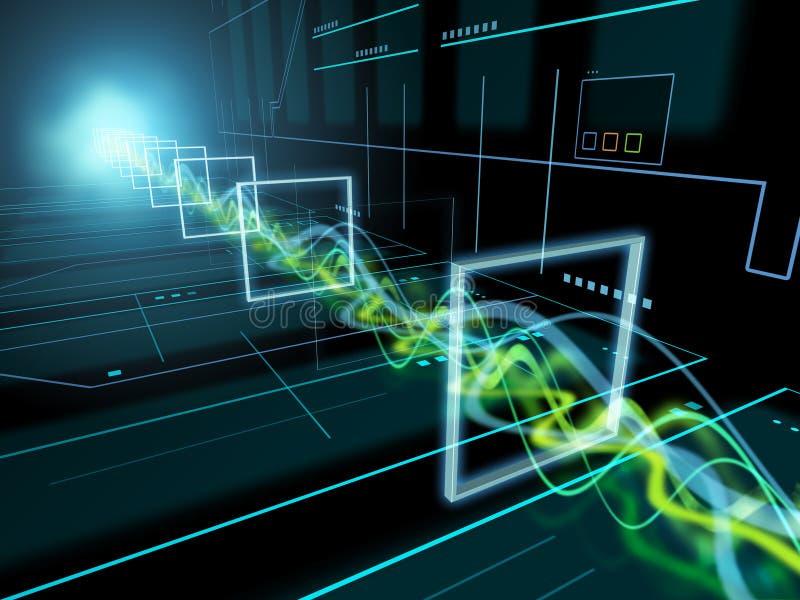 tła deski obwodu komputerowa elektroniczna wysoka część technologia royalty ilustracja